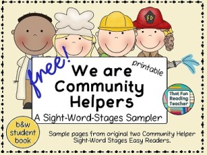 We are Community Helpers! Free Sight-Word-Stages Sampler