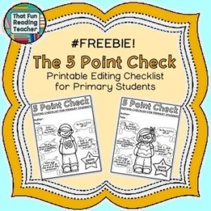 https://www.teacherspayteachers.com/Product/Free-Editing-Checklist-Primary-1739177
