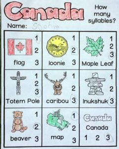 Canada Read and Write and More - syllables