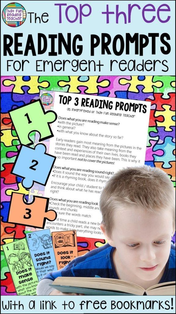 Reading prompts - it's easy to be overwhelmed by the volume of great prompts to use with emergent readers! These are the three they all stem from. Easy links back to the running record and teachable moments. | ThatFunReadingTeacher.com