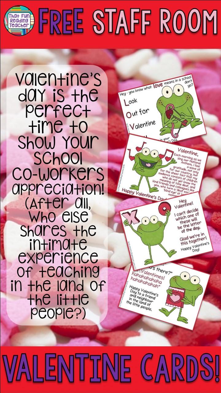 Valentines Day Ideas for School That Fun Reading Teacher – Valentine Cards for Kindergarten